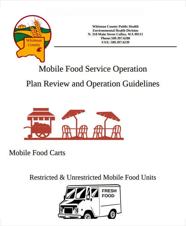 mobile food service operation plan