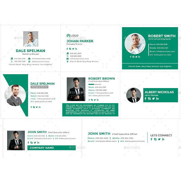 modern ceo email signature template
