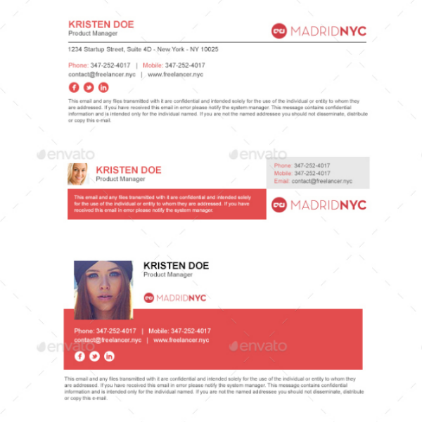 Modern Clean Email Signature Template