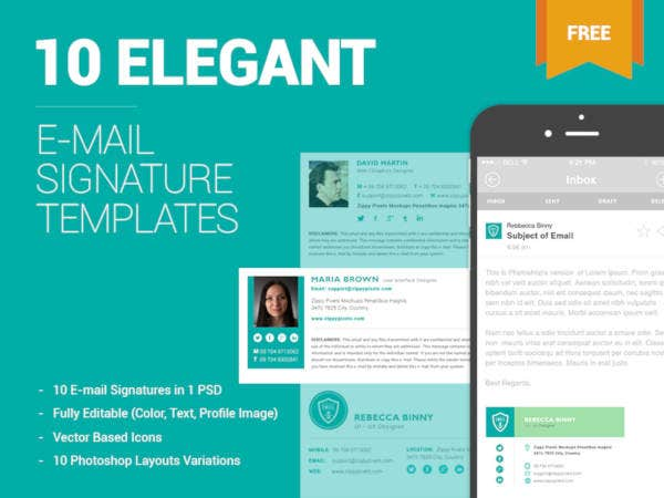 modern email signature design set
