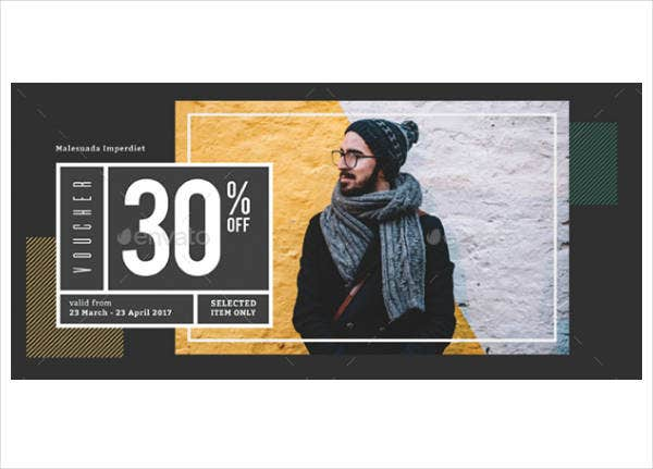 Modern Fashion Discount Voucher Template