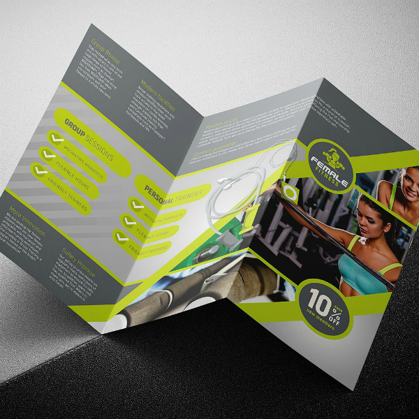 Modern Female Fitness Brochure Template