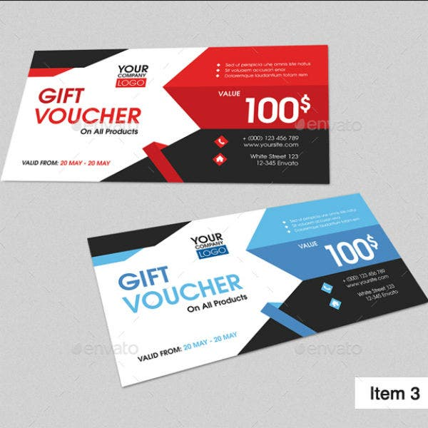 modern gift voucher bundle indd template