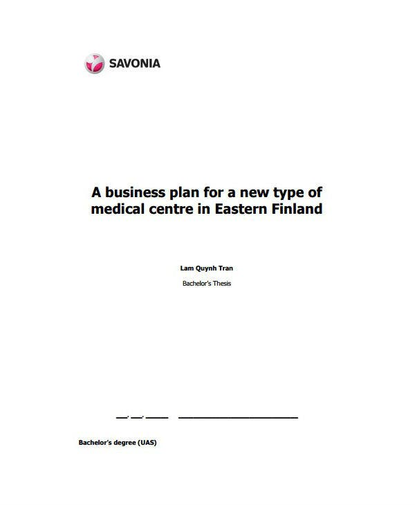 modern healthcare marketing plan template