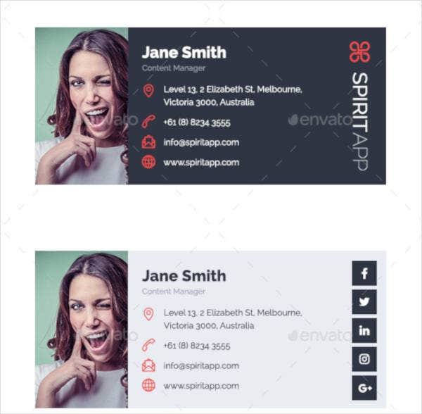 modern themed professional email signatures