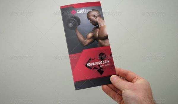 Modern Tri-Fold Fitness Brochure Example