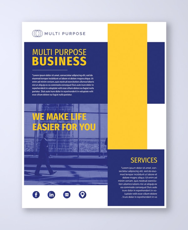 multi purpose business flyer template1