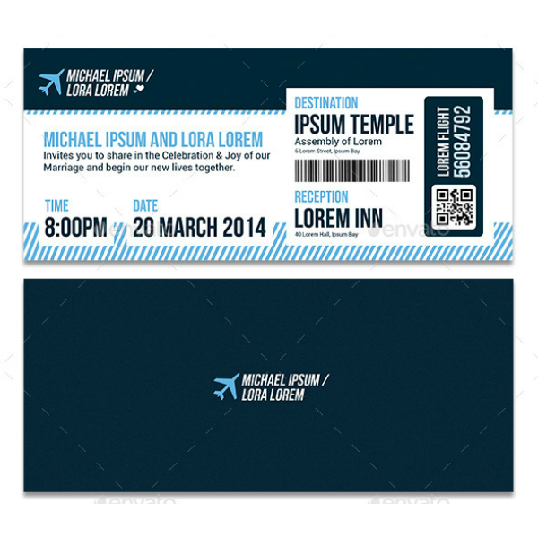 Multipurpose Boarding Pass Ticket Invitation