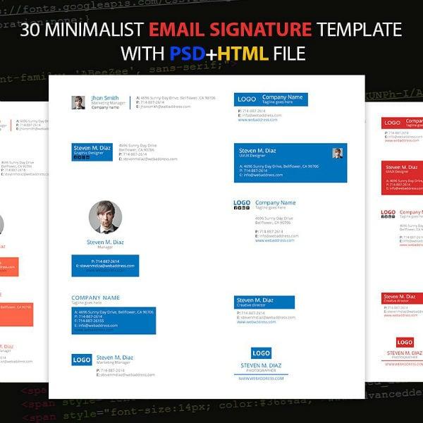 multipurpose marketing manager email signature template