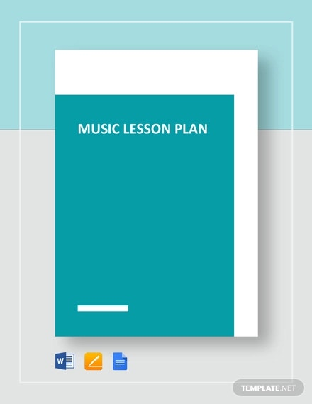 Music Lesson Plan Template 7 Free Word Excel Pdf Format