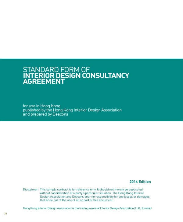 nterior design consultancy agreement 01