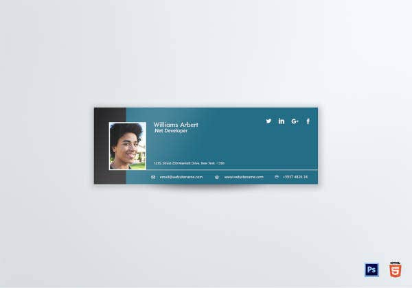 Net Developer Email Signature Template