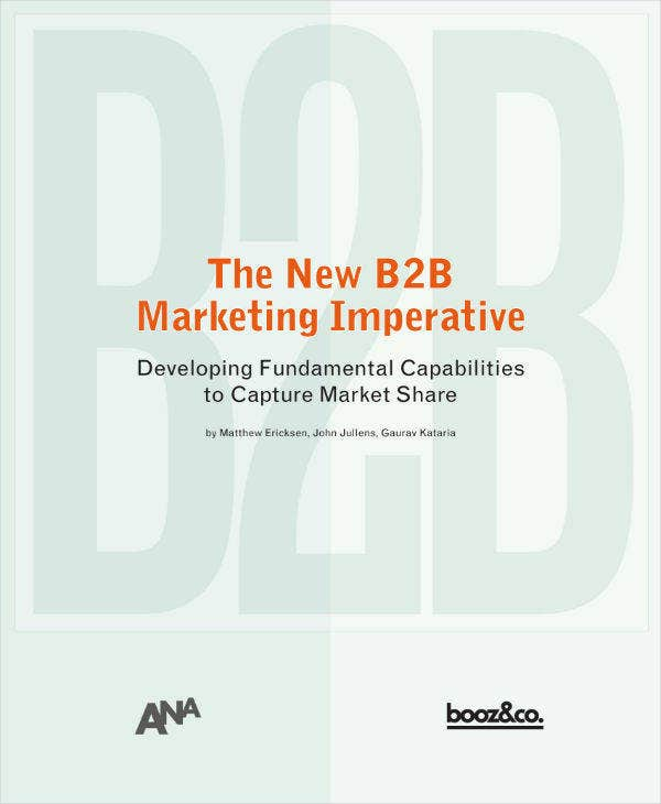 New B2B Marketing Imperative Business Plan