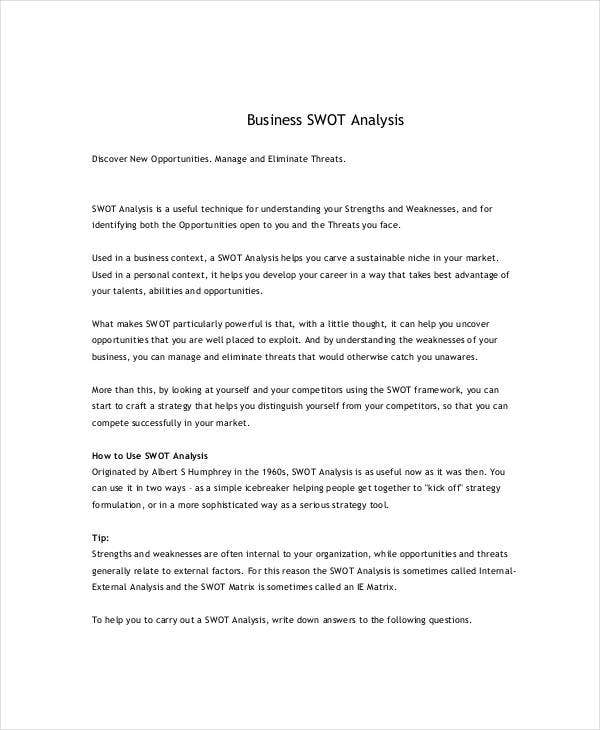 new small business swot analysis1