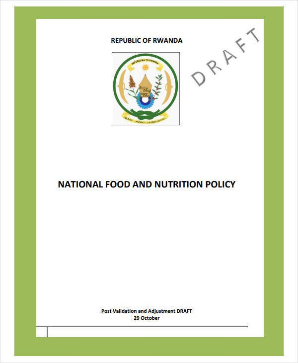nutrition consulting business plan policy