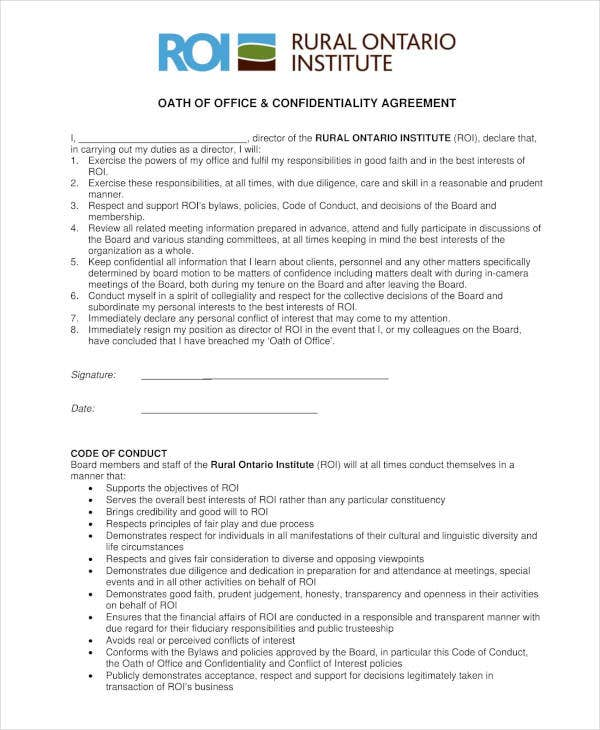 office meeting confidentiality agreement template