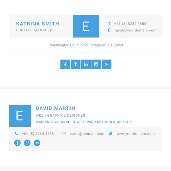 psd clean email signature template