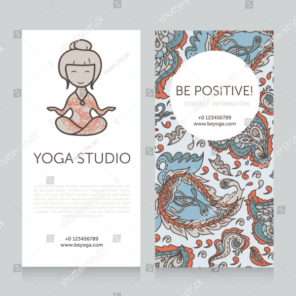 Paisley Yoga Studio Business Card Template