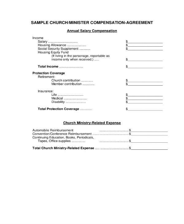 8 Compensation Agreement Templates Pdf Word Free