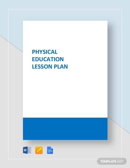 7+ Physical Education Lesson Plan Templates - Word, Apple