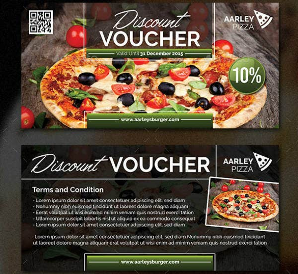 Pizza Discount Voucher Template