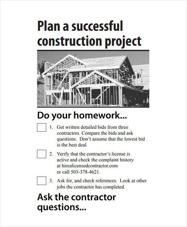 plan a successful construction project
