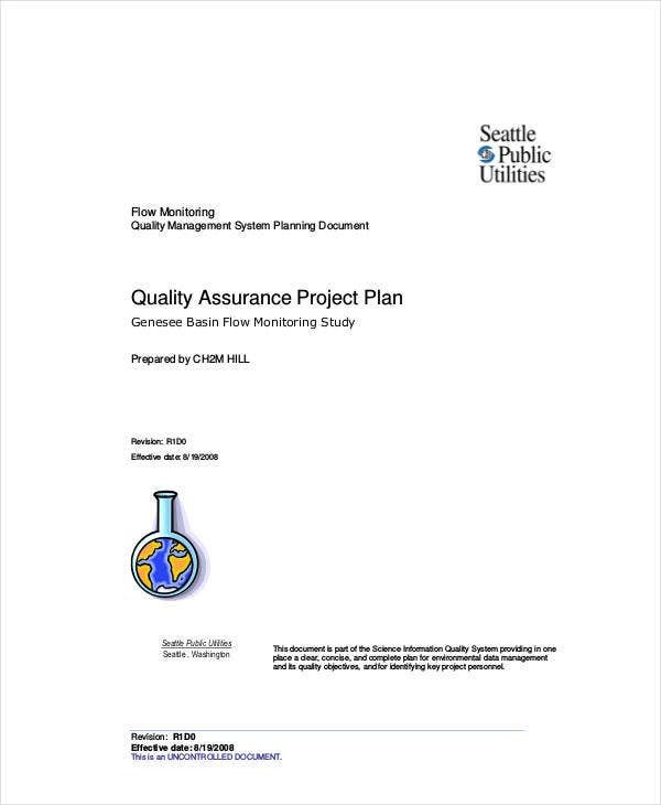 printable quality assurance project plan