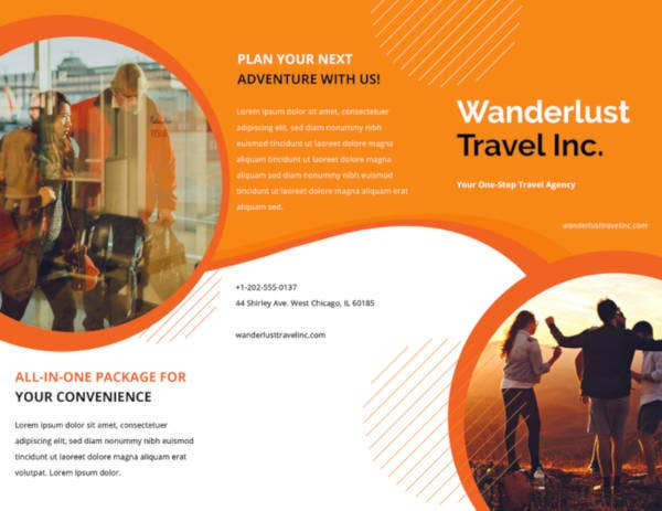 printable travel agency brochure
