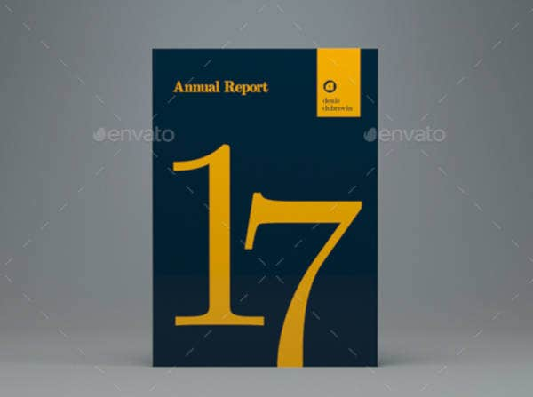 Printed Annual Report Cover Template