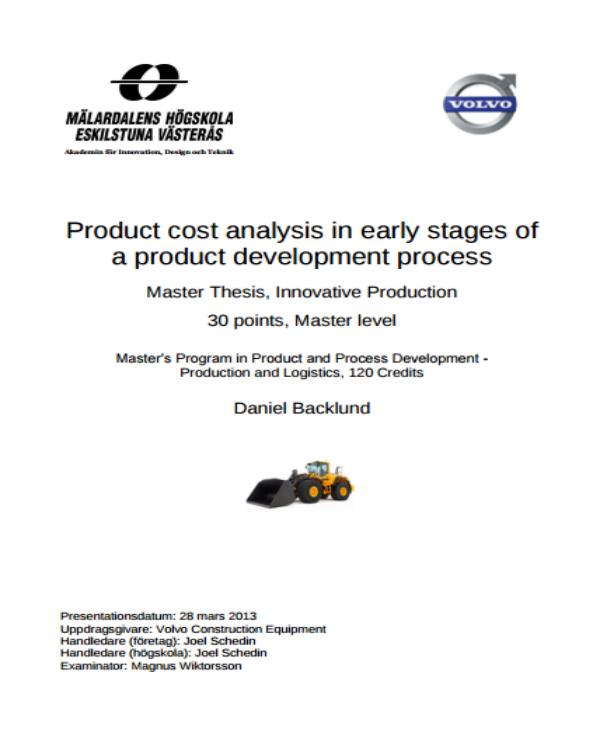 product development process cost analysis