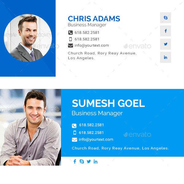 product manager email signature template set