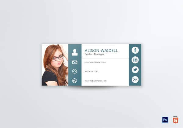 Product Manager Email Signature Template