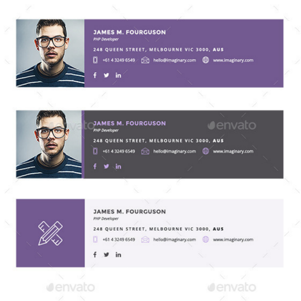Clean Modern WordPress Developer Signature
