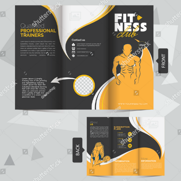 Professional Fitness Club Brochure Template