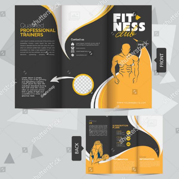 professional fitness club brochure template