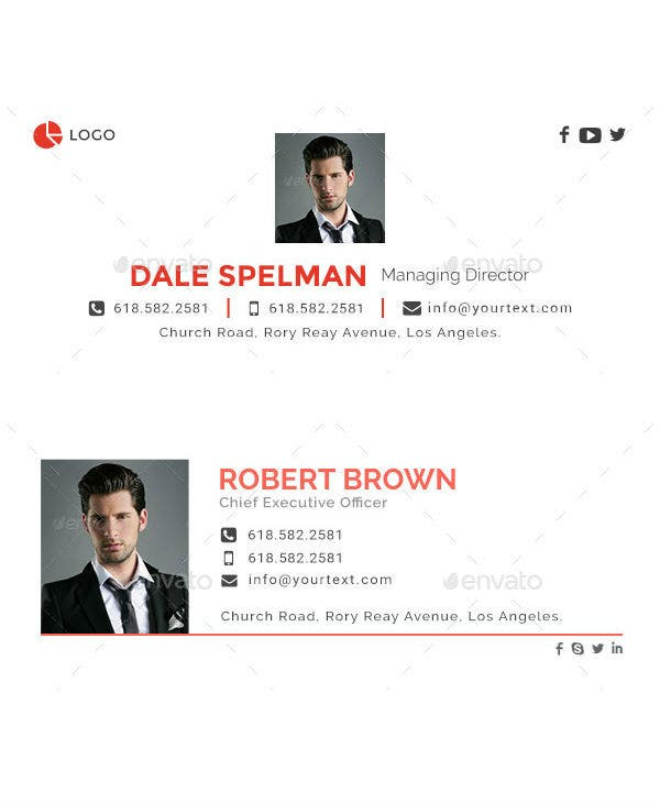 professional minimalist email signature template