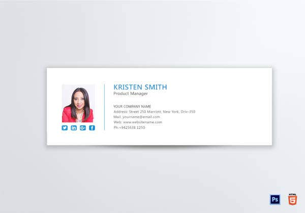 Professional Product Manager Email Signature Template