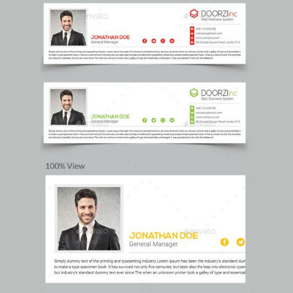professional product manager email signature template2