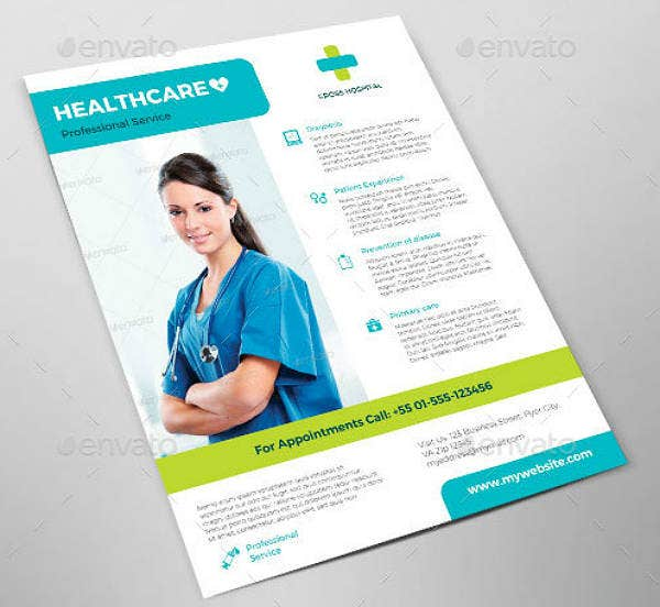 Professional Service Healthcare Flyer Template