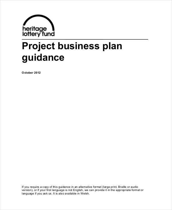 project business plan guidance