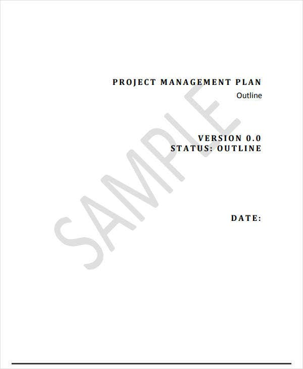 project management plan outline