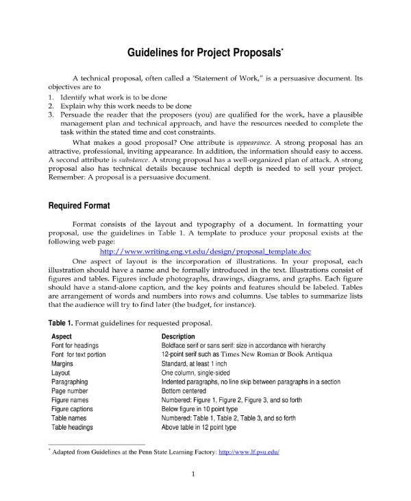 proposal guidelines 1