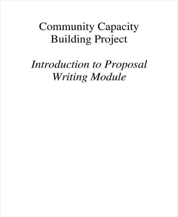 proposal writing guide sample