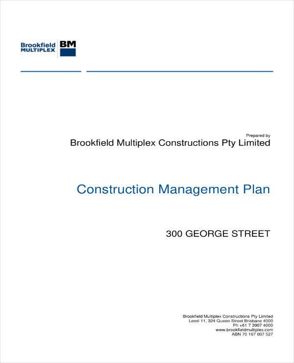 quality construction management plan