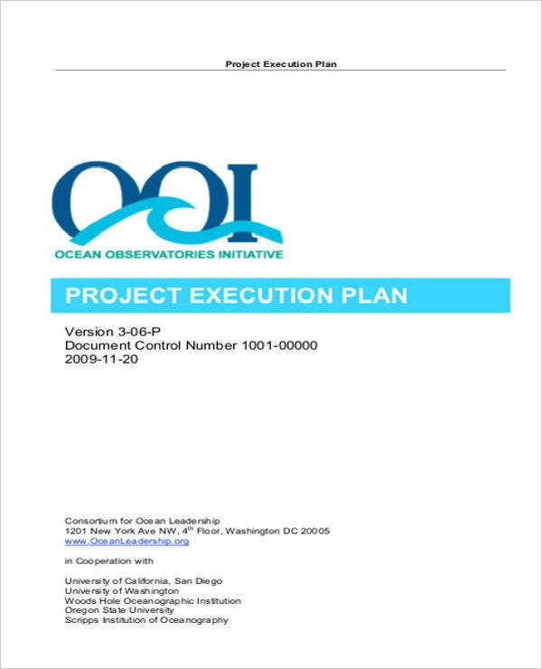 Quality Project Execution Plan