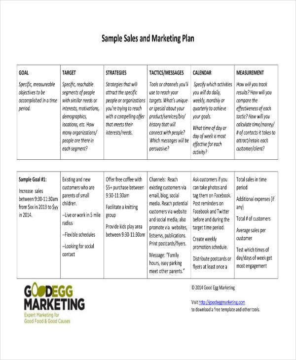 Quality Sales and Marketing Project Plan