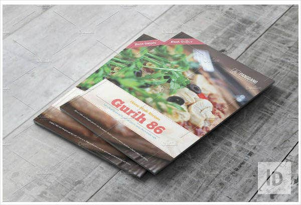 recipe book catalog template
