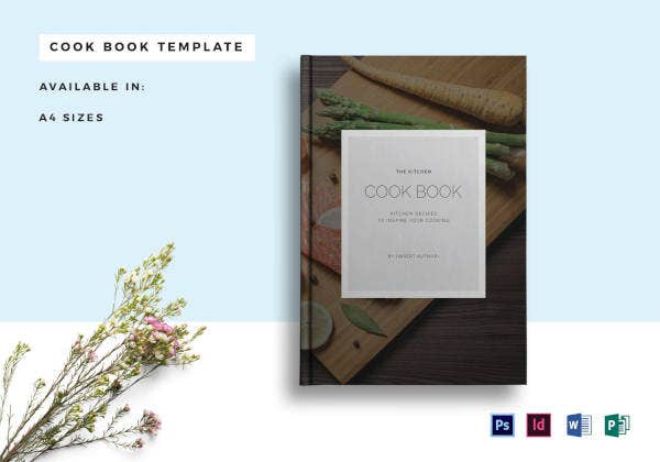 recipe cookbook catalog template