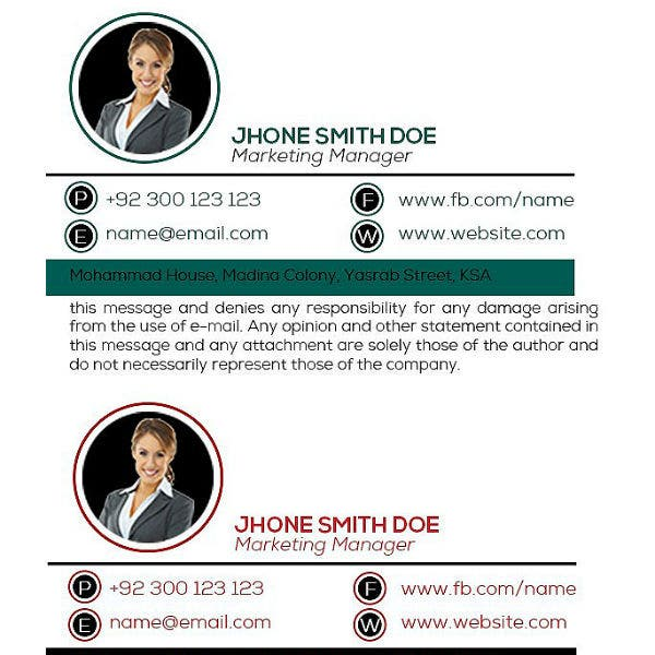 responsive marketing manager email signature template