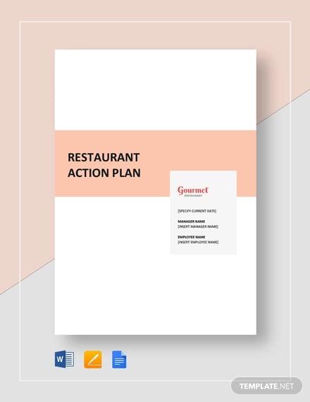 restaurant action plan template